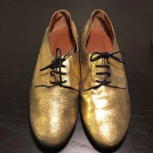 Rachel Comey Shoes - Rachel Comey Gold Oxfords
